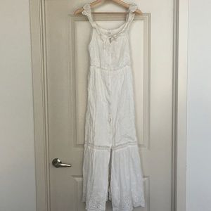Prairie white sun dress